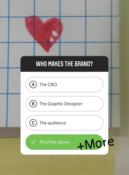 Poll question asking who makes the brand